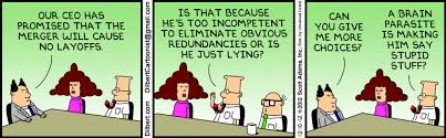 Leaders in M&A dilbert